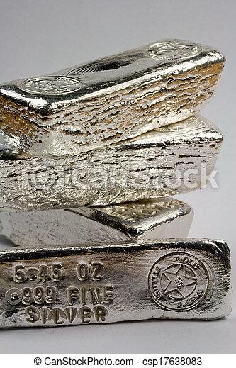 Stamped Silver Bullion Bars - csp17638083