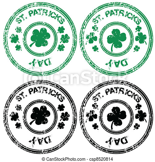 Stamps for St. Patrick's Day - csp8520814