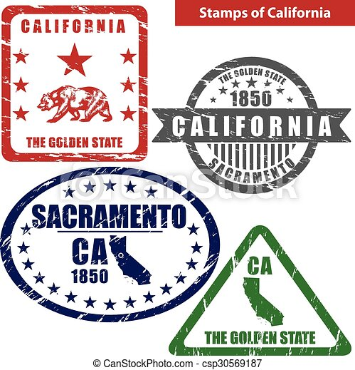 Stamps of California, USA - csp30569187