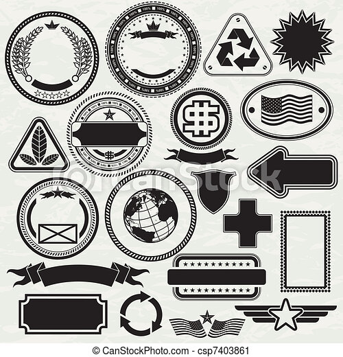 stamps templates blank stamps templates for your design vector