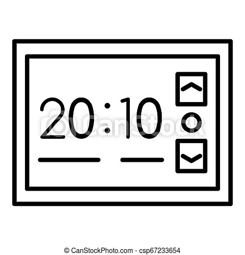 Stand alarm clock icon, outline style - csp67233654