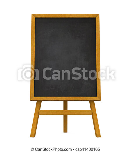 Greatest Stand chalkboard isolated on white background. 3d render. UV12