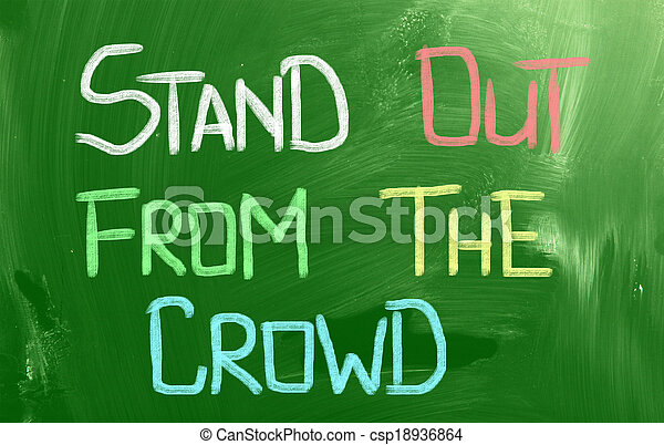 Stand Out From The Crowd Concept - csp18936864