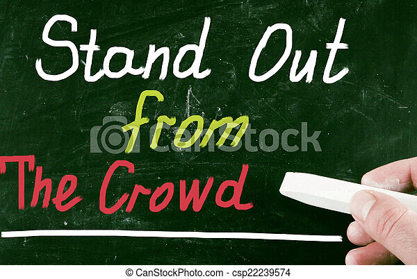 stand out from the crowd - csp22239574
