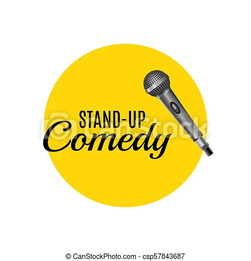 Stand up comedy template vector logo. stand up corporate promotion ...