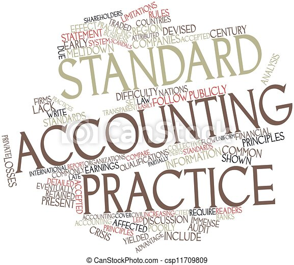 Standard accounting practice - csp11709809