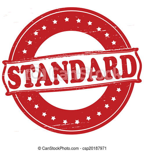 standard stamp with text standard inside vector illustration