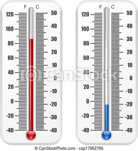 Standard thermometer vector template isolated on white background. - csp17952765