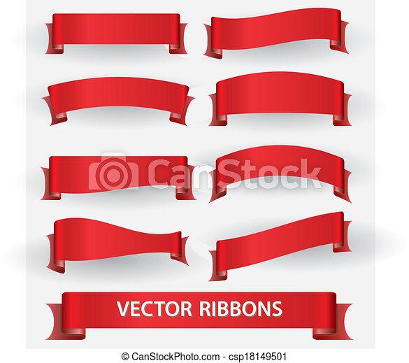 standarta, eps10, červené šaty lem - csp18149501