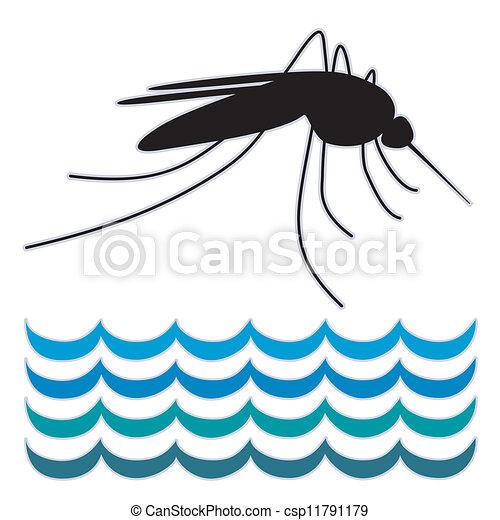 standing, acqua, zanzara - csp11791179