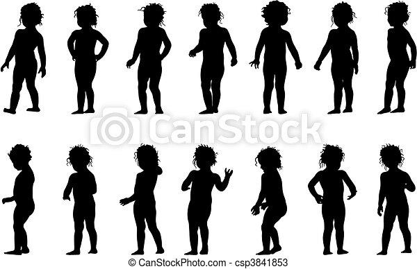 standing, bambino - csp3841853