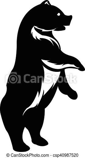 standing bear silhouette