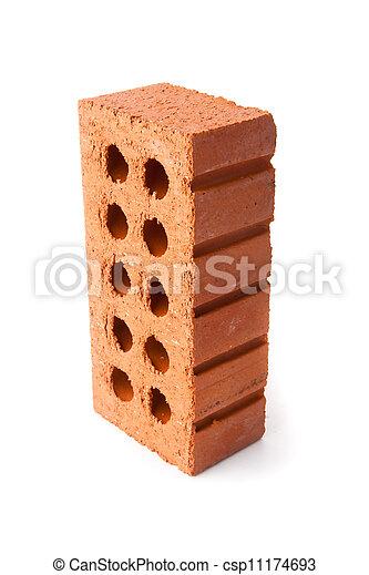 Standing clay brick with ten holes - csp11174693