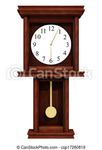 3d digital render of a standing clock isolated on white ...