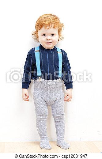 standing little boy - csp12031947