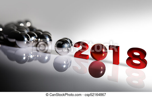 Standing out of the crowd- New year 2018 - csp52164867