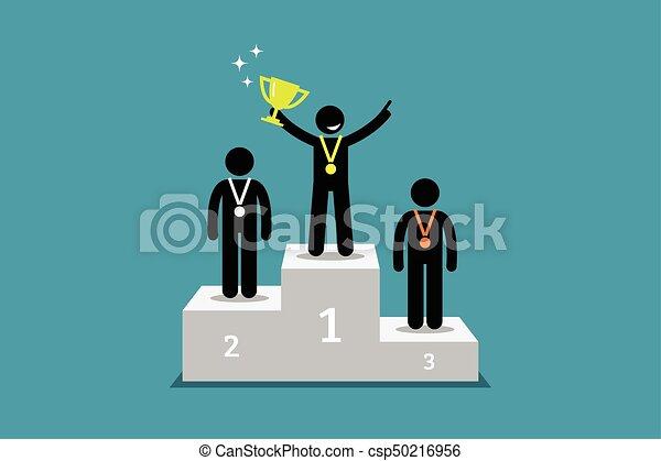 Standing su campione corridore secondo podio primo for Piani di garage free standing
