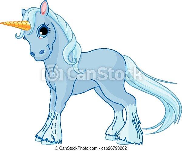 standing, unicorno - csp26793262