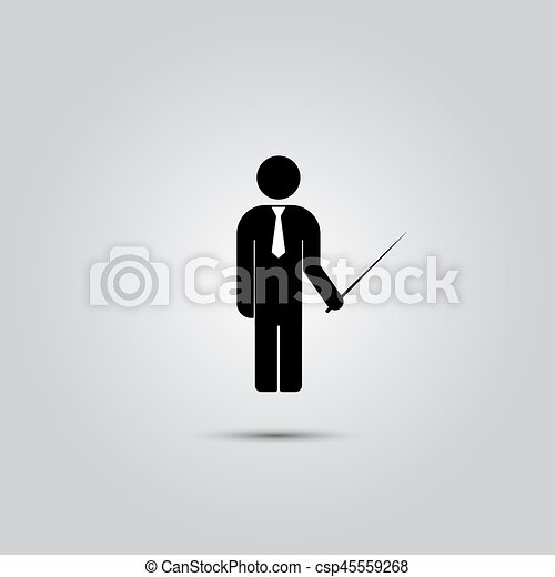 standing, uomo, pointer. - csp45559268