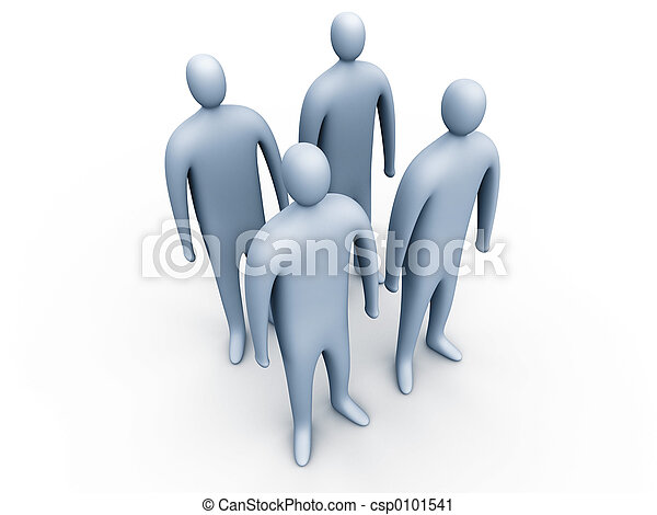 standing#1, 3d, ludzie - csp0101541