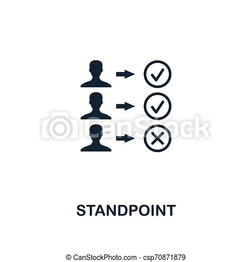 Standpoint icon. Premium style design from business management icon collection. Pixel perfect Standpoint icon for web design, apps, software, print usage - csp70871879