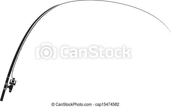 stange, freigestellt, fischerei - csp15474582