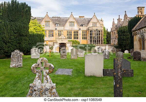 Stanway House y St Peters Church Stanton - csp11080549