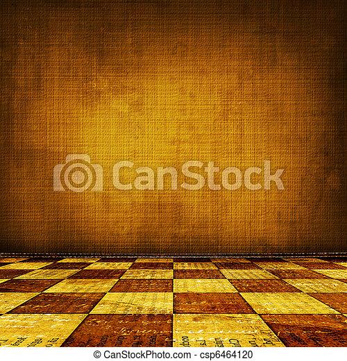 stanza, interno, portato, superficie, vecchio, grunge, industriale - csp6464120