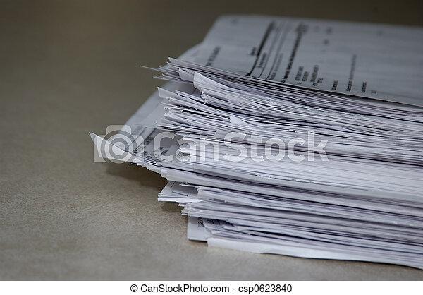 stapel, papieren - csp0623840