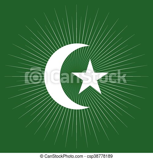 Star And Crescent Moon Of Islamic Religion Symbol