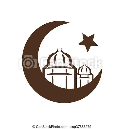Star And Crescent Symbol Of Islam Icon