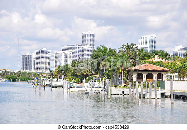Star and Palm Island in Miami - csp4538429