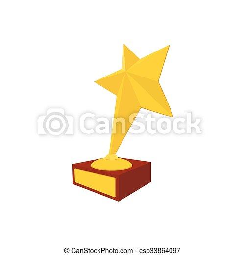 Star award cartoon icon - csp33864097