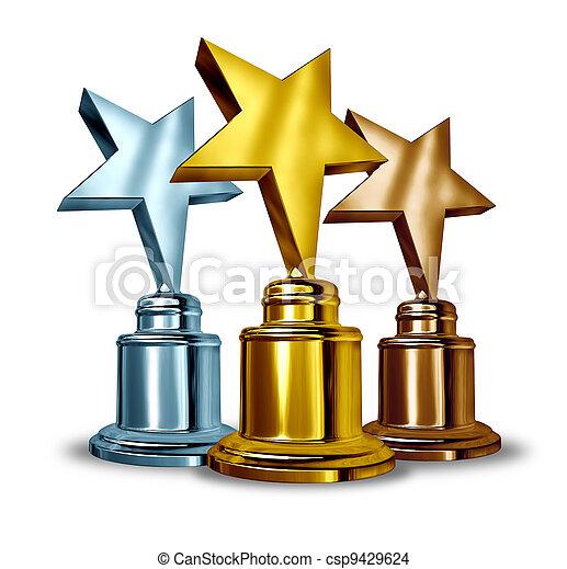 Star Award Trophies - csp9429624