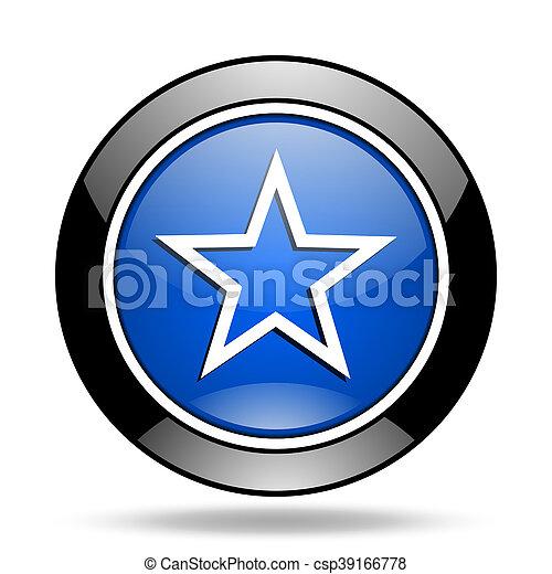star blue glossy icon - csp39166778