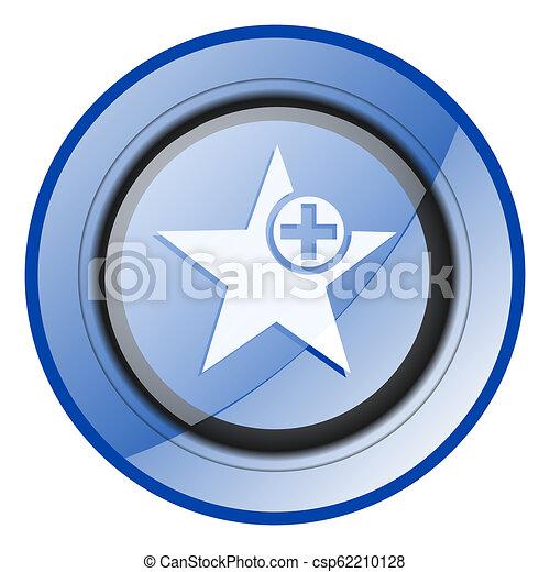 Star blue glossy web icon - csp62210128