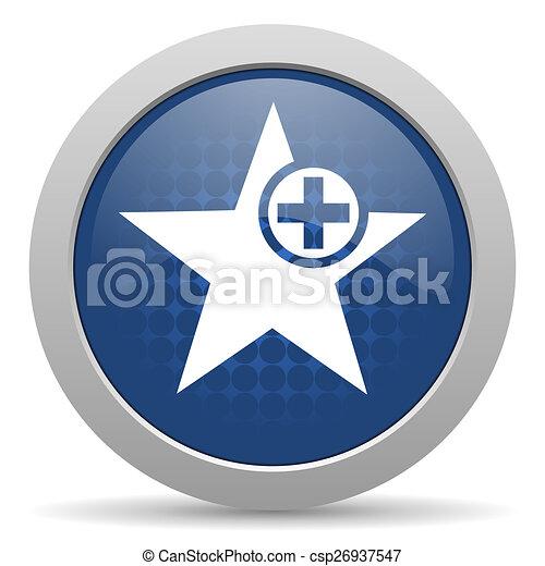 star blue glossy web icon - csp26937547