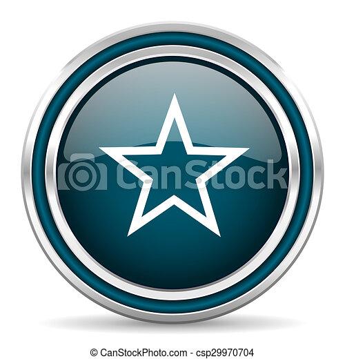 star blue glossy web icon - csp29970704
