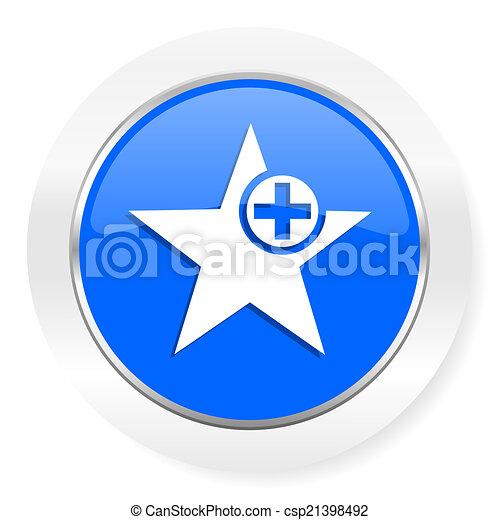 star blue glossy web icon - csp21398492