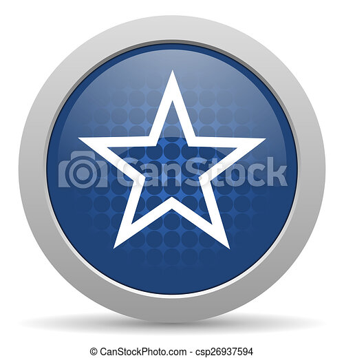 star blue glossy web icon - csp26937594