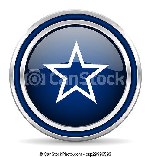 star blue glossy web icon - csp29996593