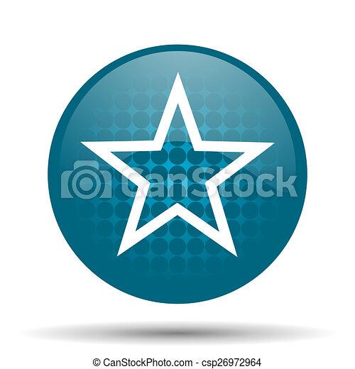 star blue glossy web icon - csp26972964