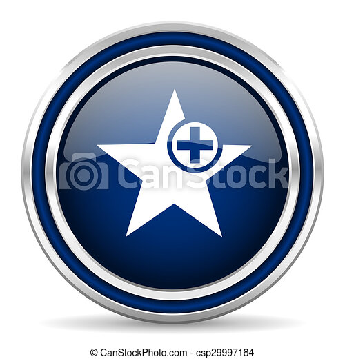 star blue glossy web icon - csp29997184