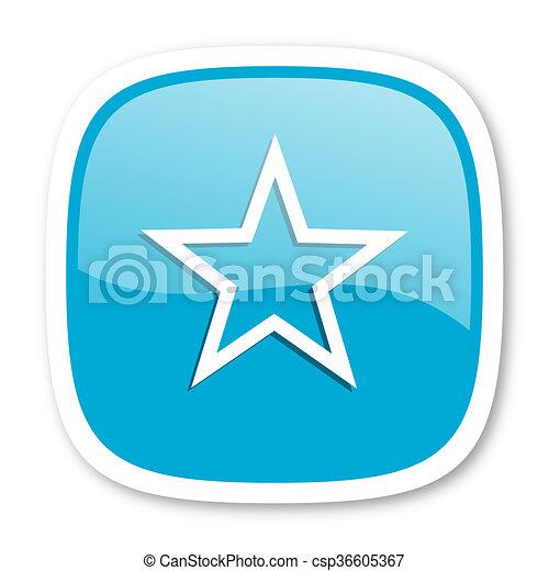star blue glossy web icon - csp36605367