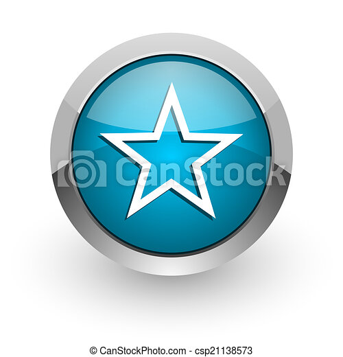 star blue glossy web icon - csp21138573