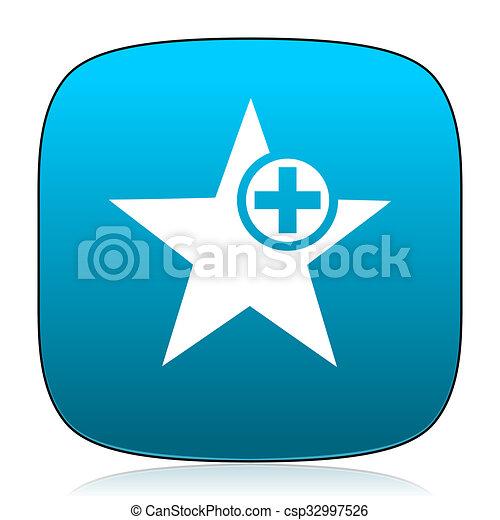 star blue icon - csp32997526