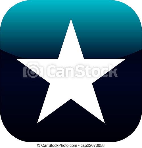 star blue icon - csp22673058