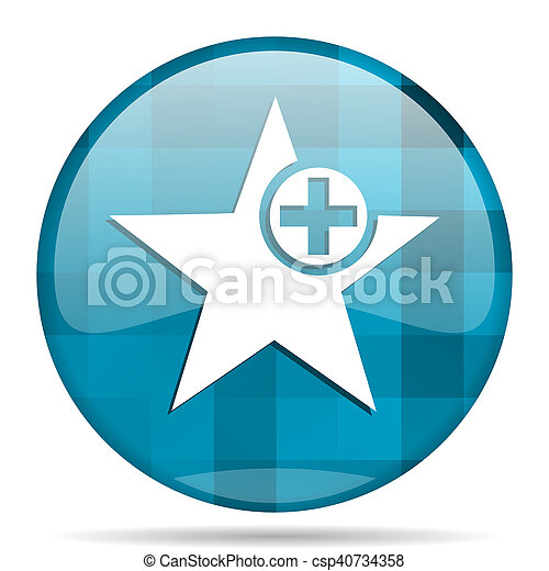 star blue round modern design internet icon on white background - csp40734358