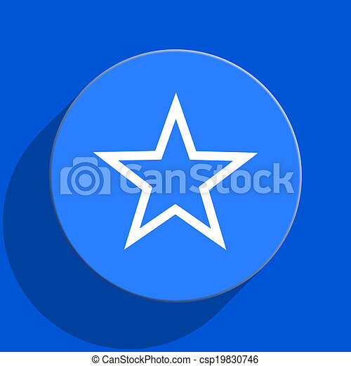 star blue web flat icon - csp19830746