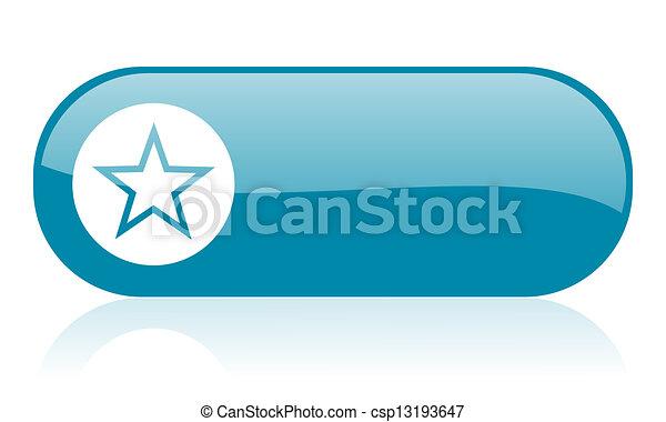 star blue web glossy icon - csp13193647